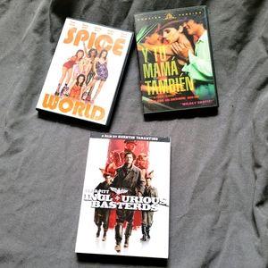 DVD Bundle   Inglourious Bastards Spice World Y Tu